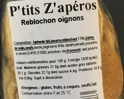 ingredients zapero reblochon